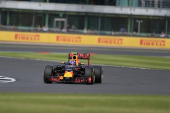 World © Octane Photographic Ltd. Red Bull Racing RB12 – Max Verstappen. Friday 8th July 2016, F1 British GP Practice 2, Silverstone, UK. Digital Ref : 1621LB1D2379