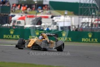 World © Octane Photographic Ltd. Renault Sport F1 Team RS16 – Jolyon Palmer. Friday 8th July 2016, F1 British GP Practice 2, Silverstone, UK. Digital Ref : 1621LB1D2456