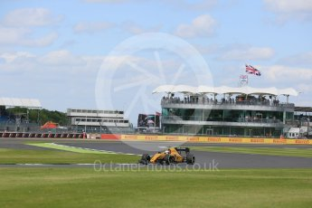 World © Octane Photographic Ltd. Renault Sport F1 Team RS16 - Kevin Magnussen. Friday 8th July 2016, F1 British GP Practice 2, Silverstone, UK. Digital Ref : 1621LB5D5575