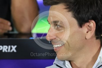 World © Octane Photographic Ltd. F1 British GP FIA Personnel Press Conference, Silverstone, UK. Friday 8th July 2016. Toto Wolff – Mercedes AMG Petronas Chief Executive. Digital Ref : 1624LB1D2604