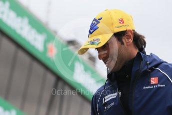 World © Octane Photographic Ltd. Sauber F1 Team – Felipe Nasr. Sunday 12th June 2016, F1 Canadian GP Drivers' parade, Circuit Gilles Villeneuve, Montreal, Canada. Digital Ref :1591LB1D2931