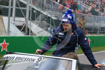 World © Octane Photographic Ltd. Sauber F1 Team – Marcus Ericsson. Sunday 12th June 2016, F1 Canadian GP Drivers' parade, Circuit Gilles Villeneuve, Montreal, Canada. Digital Ref :1591LB1D3043