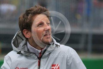 World © Octane Photographic Ltd. Haas F1 Team – Romain Grosjean. Sunday 12th June 2016, F1 Canadian GP Drivers' parade, Circuit Gilles Villeneuve, Montreal, Canada. Digital Ref :1591LB1D3101