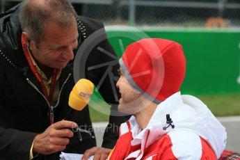 World © Octane Photographic Ltd. Scuderia Ferrari – Sebastian Vettel. Sunday 12th June 2016, F1 Canadian GP Drivers' parade, Circuit Gilles Villeneuve, Montreal, Canada. Digital Ref :1591LB1D3173