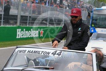 World © Octane Photographic Ltd. Mercedes AMG Petronas – Lewis Hamilton. Sunday 12th June 2016, F1 Canadian GP Drivers' parade, Circuit Gilles Villeneuve, Montreal, Canada. Digital Ref :1591LB1D3188