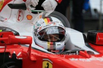World © Octane Photographic Ltd. Scuderia Ferrari SF16-H – Sebastian Vettel. Sunday 12th June 2016, F1 Canadian GP Parc Ferme, Circuit Gilles Villeneuve, Montreal, Canada. Digital Ref :1591LB1D3290