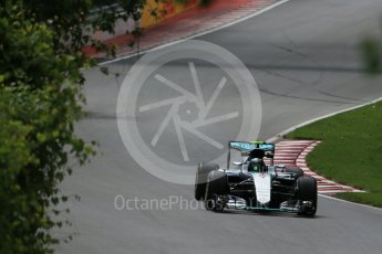 World © Octane Photographic Ltd. Mercedes AMG Petronas W07 Hybrid – Nico Rosberg. Friday 10th June 2016, F1 Canadian GP Practice 1, Circuit Gilles Villeneuve, Montreal, Canada. Digital Ref : 1586LB1D9595