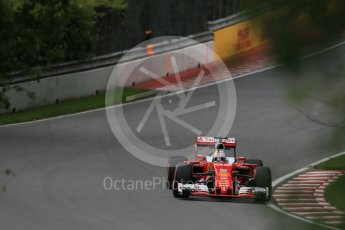 World © Octane Photographic Ltd. Scuderia Ferrari SF16-H – Sebastian Vettel. Friday 10th June 2016, F1 Canadian GP Practice 1, Circuit Gilles Villeneuve, Montreal, Canada. Digital Ref : 1586LB1D9752