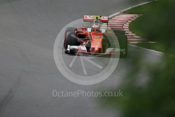 World © Octane Photographic Ltd. Scuderia Ferrari SF16-H – Kimi Raikkonen. Friday 10th June 2016, F1 Canadian GP Practice 1, Circuit Gilles Villeneuve, Montreal, Canada. Digital Ref : 1586LB1D9759