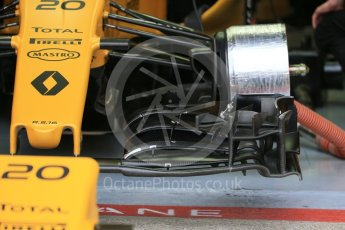 World © Octane Photographic Ltd. Renault Sport F1 Team RS16 front wing detail - Kevin Magnussen. Saturday 11th June 2016, F1 Canadian GP Practice 3, Circuit Gilles Villeneuve, Montreal, Canada. Digital Ref :1588LB1D0952