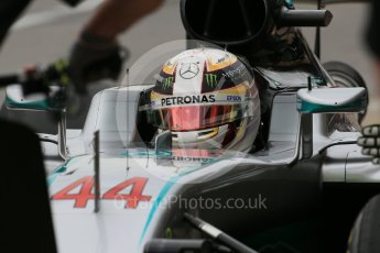World © Octane Photographic Ltd. Mercedes AMG Petronas W07 Hybrid – Lewis Hamilton. Saturday 11th June 2016, F1 Canadian GP Practice 3, Circuit Gilles Villeneuve, Montreal, Canada. Digital Ref :1588LB1D1142