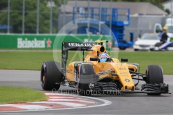 World © Octane Photographic Ltd. Renault Sport F1 Team RS16 – Jolyon Palmer. Saturday 11th June 2016, F1 Canadian GP Qualifying, Circuit Gilles Villeneuve, Montreal, Canada. Digital Ref :1589LB1D1606