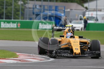 World © Octane Photographic Ltd. Renault Sport F1 Team RS16 – Jolyon Palmer. Saturday 11th June 2016, F1 Canadian GP Qualifying, Circuit Gilles Villeneuve, Montreal, Canada. Digital Ref :1589LB1D1681
