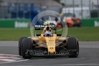 World © Octane Photographic Ltd. Renault Sport F1 Team RS16 – Jolyon Palmer. Saturday 11th June 2016, F1 Canadian GP Qualifying, Circuit Gilles Villeneuve, Montreal, Canada. Digital Ref :1589LB1D1739