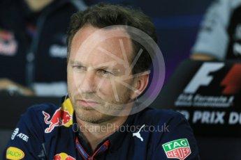 World © Octane Photographic Ltd. F1 Canadian GP FIA Personnel Press Conference, Circuit Gilles Villeneuve, Montreal, Canada. Friday 10th June 2016. Christian Horner – Team Principal Red Bull Racing. Digital Ref :1585LB1D0741