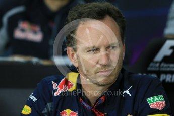 World © Octane Photographic Ltd. F1 Canadian GP FIA Personnel Press Conference, Circuit Gilles Villeneuve, Montreal, Canada. Friday 10th June 2016. Christian Horner – Team Principal Red Bull Racing. Digital Ref :1585LB1D0779
