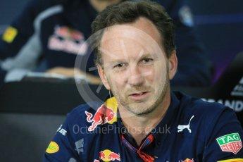 World © Octane Photographic Ltd. F1 Canadian GP FIA Personnel Press Conference, Circuit Gilles Villeneuve, Montreal, Canada. Friday 10th June 2016. Christian Horner – Team Principal Red Bull Racing. Digital Ref :1585LB1D0787