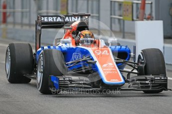 World © Octane Photographic Ltd. Manor Racing MRT05 - Pascal Wehrlein. Tuesday 17th May 2016, F1 Spanish In-season testing, Circuit de Barcelona Catalunya, Spain. Digital Ref : 1555CB1D2333
