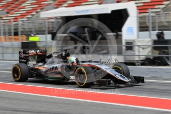 World © Octane Photographic Ltd. Sahara Force India VJM09 – Alfonso Celis. Tuesday 17th May 2016, F1 Spanish GP In-season testing, Circuit de Barcelona Catalunya, Spain. Digital Ref :1555CB1D3245