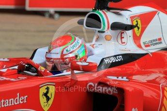 World © Octane Photographic Ltd. Scuderia Ferrari SF16-H – Antonio Fuoco. Wednesday 18th May 2016, F1 Spanish GP In-season testing, Circuit de Barcelona Catalunya, Spain. Digital Ref : 1556CB1D3755