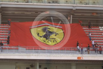 World © Octane Photographic Ltd. Scuderia Ferrari SF16-H – Antonio Fuoco fans with a backwards flag. Wednesday 18th May 2016, F1 Spanish GP In-season testing, Circuit de Barcelona Catalunya, Spain. Digital Ref :
