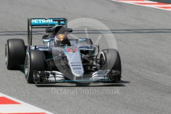 World © Octane Photographic Ltd. Mercedes AMG Petronas W07 Hybrid – Pascal Wehrlein. Wednesday 18th May 2016, F1 Spanish In-season testing, Circuit de Barcelona Catalunya, Spain. Digital Ref : 1556CB1D4177