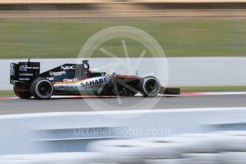 World © Octane Photographic Ltd. Sahara Force India VJM09 - Alfonso Celis. Wednesday 18th May 2016, F1 Spanish GP In-season testing, Circuit de Barcelona Catalunya, Spain. Digital Ref : 1556CB7D9431