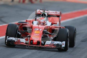 World © Octane Photographic Ltd. Scuderia Ferrari SF16-H – Antonio Fuoco. Wednesday 18th May 2016, F1 Spanish GP In-season testing, Circuit de Barcelona Catalunya, Spain. Digital Ref : 1556LB1D0089