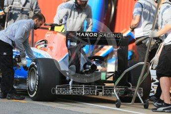 World © Octane Photographic Ltd. Manor Racing MRT05 – Jordan King. Wednesday 18th May 2016F1 Spanish GP In-season testing, Circuit de Barcelona Catalunya, Spain. Digital Ref : 1556LB1D0200