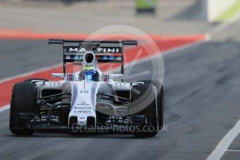 World © Octane Photographic Ltd. Williams Martini Racing, Williams Mercedes FW38 – Felipe Massa. Wednesday 18th May 2016, F1 Spanish GP In-season testing, Circuit de Barcelona Catalunya, Spain. Digital Ref : 1556LB1D0208