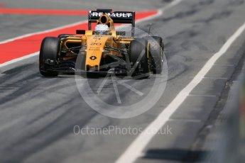 World © Octane Photographic Ltd. Renault Sport F1 Team RS16 – Kevin Magnussen. Wednesday 18th May 2016, F1 Spanish GP In-season testing, Circuit de Barcelona Catalunya, Spain. Digital Ref : 1556LB1D0728