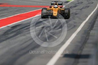 World © Octane Photographic Ltd. Renault Sport F1 Team RS16 – Kevin Magnussen. Wednesday 18th May 2016, F1 Spanish GP In-season testing, Circuit de Barcelona Catalunya, Spain. Digital Ref : 1556LB1D0794