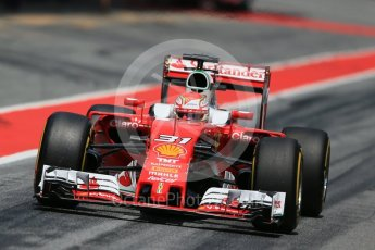 World © Octane Photographic Ltd. Scuderia Ferrari SF16-H – Antonio Fuoco. Wednesday 18th May 2016, F1 Spanish GP In-season testing, Circuit de Barcelona Catalunya, Spain. Digital Ref : 1556LB1D0874