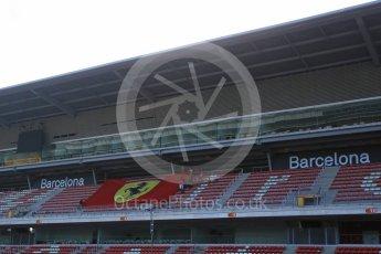 World © Octane Photographic Ltd. Scuderia Ferrari fans. Wednesday 18th May 2016, F1 Spanish GP In-season testing, Circuit de Barcelona Catalunya, Spain. Digital Ref : 1556LB5D4921