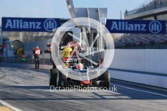 World © Octane Photographic Ltd. Haas F1 Team VF-16 – Esteban Gutierrez. Tuesday 1st March 2016, F1 Winter testing, Circuit de Barcelona Catalunya, Spain, Day 5. Digital Ref : 1508LB1D4221