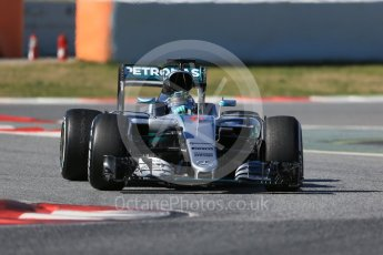 World © Octane Photographic Ltd. Mercedes AMG Petronas W07 Hybrid – Nico Rosberg. Tuesday 1st March 2016, F1 Winter testing, Circuit de Barcelona Catalunya, Spain, Day 5. Digital Ref : 1508LB1D4401