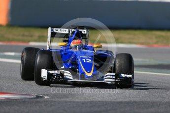 World © Octane Photographic Ltd. Sauber F1 Team C35 – Felipe Nasr. Tuesday 1st March 2016, F1 Winter testing, Circuit de Barcelona Catalunya, Spain, Day 5. Digital Ref : 1508LB1D4406