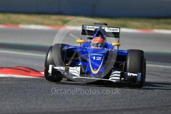 World © Octane Photographic Ltd. Sauber F1 Team C35 – Felipe Nasr. Tuesday 1st March 2016, F1 Winter testing, Circuit de Barcelona Catalunya, Spain, Day 5. Digital Ref : 1508LB1D4502