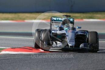 World © Octane Photographic Ltd. Mercedes AMG Petronas W07 Hybrid – Nico Rosberg. Tuesday 1st March 2016, F1 Winter testing, Circuit de Barcelona Catalunya, Spain, Day 5. Digital Ref : 1508LB1D4506