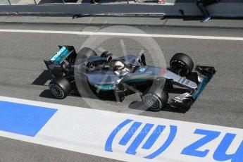 World © Octane Photographic Ltd. Mercedes AMG Petronas W07 Hybrid – Lewis Hamilton. Tuesday 1st March 2016, F1 Winter testing, Circuit de Barcelona Catalunya, Spain, Day 5. Digital Ref : 1508LB1D4821