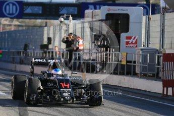 World © Octane Photographic Ltd. McLaren Honda MP4-31 – Fernando Alonso. Tuesday 1st March 2016, F1 Winter testing, Circuit de Barcelona Catalunya, Spain, Day 5. Digital Ref : 1508LB5D8930