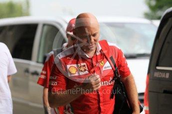 World © Octane Photographic Ltd. Scuderia Ferrari – Mark Arnall (Kimi Raikkonen's personal trainer). Friday 22nd July 2016, F1 Hungarian GP Paddock, Hungaroring, Hungary. Digital Ref :1638CB1D5894