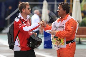 World © Octane Photographic Ltd. Scuderia Ferrari SF16-H – Sebastian Vettel. Friday 22nd July 2016, F1 Hungarian GP Paddock, Hungaroring, Hungary. Digital Ref :1638LB1D0182