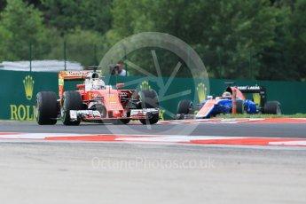 World © Octane Photographic Ltd. Scuderia Ferrari SF16-H – Sebastian Vettel. Friday 22nd July 2016, F1 Hungarian GP Practice 1, Hungaroring, Hungary. Digital Ref :