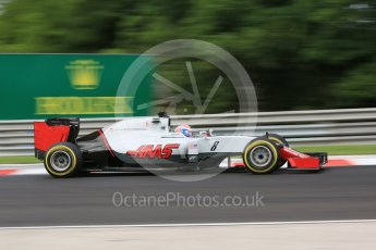 World © Octane Photographic Ltd. Haas F1 Team VF-16 – Romain Grosjean. Friday 22nd July 2016, F1 Hungarian GP Practice 1, Hungaroring, Hungary. Digital Ref :