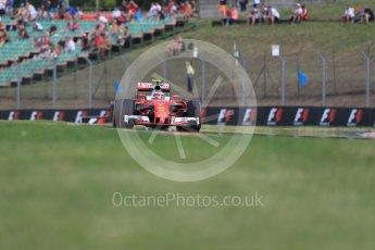 World © Octane Photographic Ltd. Scuderia Ferrari SF16-H – Kimi Raikkonen. Friday 22nd July 2016, F1 Hungarian GP Practice 1, Hungaroring, Hungary. Digital Ref :