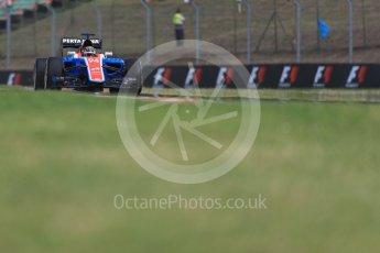 World © Octane Photographic Ltd. Manor Racing MRT05 - Pascal Wehrlein. Friday 22nd July 2016, F1 Hungarian GP Practice 1, Hungaroring, Hungary. Digital Ref :