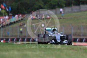 World © Octane Photographic Ltd. Mercedes AMG Petronas W07 Hybrid – Nico Rosberg. Friday 22nd July 2016, F1 Hungarian GP Practice 1, Hungaroring, Hungary. Digital Ref :