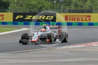 World © Octane Photographic Ltd. Haas F1 Team VF-16 - Esteban Gutierrez. Friday 22nd July 2016, F1 Hungarian GP Practice 2, Hungaroring, Hungary. Digital Ref : 1641CB1D6568