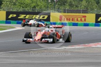 World © Octane Photographic Ltd. Scuderia Ferrari SF16-H – Sebastian Vettel. Friday 22nd July 2016, F1 Hungarian GP Practice 2, Hungaroring, Hungary. Digital Ref : 1641CB1D6645